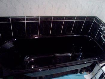 Чорний акрил для ванни